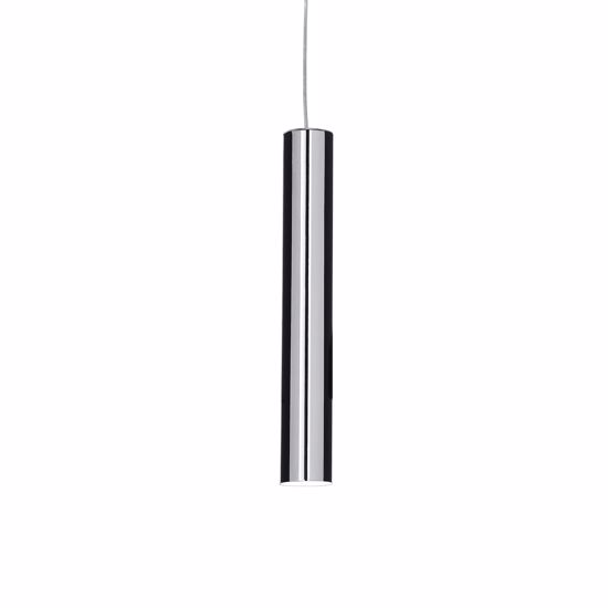 Picture of KITCHEN ISLAND PENDANT LIGHT IN CHROME POLISHED CYLINDER SHAPE