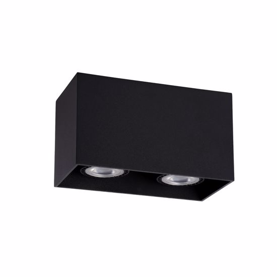 Picture of CEILING CUBE SPOTLIGHT 2 LIGHTS BLACK METAL