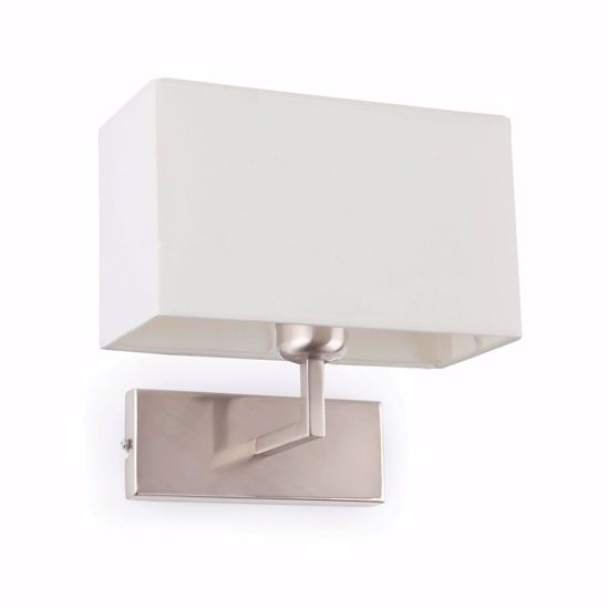 Picture of FARO RODA WALL LAMP WITH SHADE WHITE RECTANGULAR