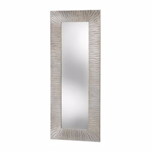 Picture of PINTDECOR ONDE WALL MIRROR MODERN DESIGN  WAVY HAND-DECORATED WITH EMBOSSED SILVER FOIL DETAILS