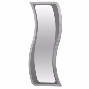 Picture of PINTDECOR CLEO WALL MIRROR MODERN SHAPED DESIGN  DOVE GREY HAND-DECORATED WITH SILVER FOIL DETAILS