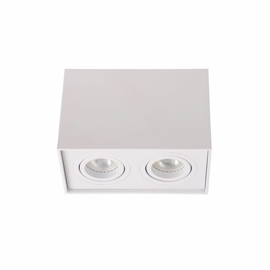 Picture of CEILING SPOTLIGHT WHITE PARALLELEPIPED SHAPE WITH 2 ROTATING LIGHTS