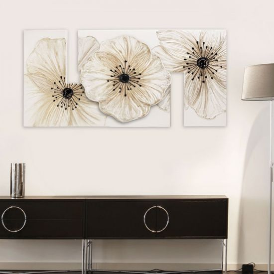 Picture of PINTDECOR PETUNIA PICCOLA FLORAL WALL ART 115X55 HAND-DECORATED DETAILS