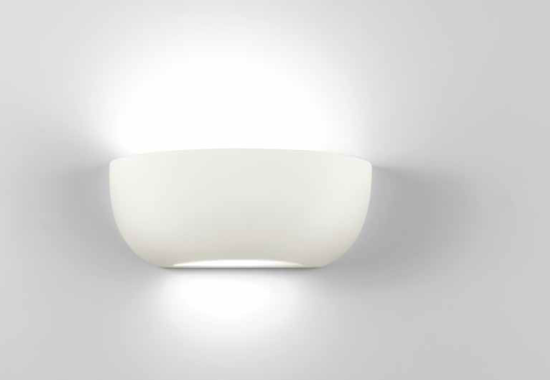 Picture of ISYLUCE WALL LAMP WHITE CERAMIC 28CM PAINTABLE