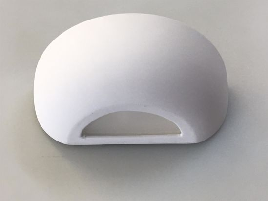 Picture of ISYLUCE WALL LAMP WHITE CERAMIC 23CM PAINTABLE