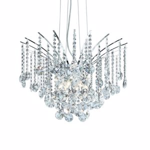 Picture of IDEAL LUX AUDI 77 PENDANT LAMP CRYSTALS SP6 6 LIGHTS