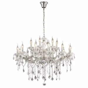 Picture of IDEAL LUX FLORIAN CRYSTAL PENDANT LAMP SP18 18 ARMS CHROME
