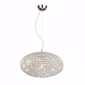 Picture of IDEAL LUX ORION PENDANT LAMP CRYSTALS 40CM 6 LIGHTS
