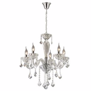 Picture of IDEAL LUX TIEPOLO SP5 PENDANT LAMP IN GLASS WITH PENDANTS