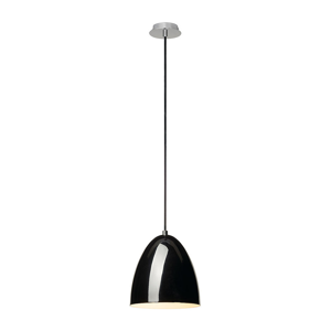 Picture of SLV PARA CONE 20 MODERN SUSPENSION Ø20CM GLOSSY BLACK METAL