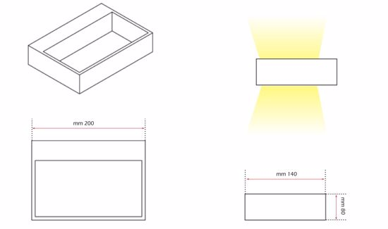 Picture of LED WALL LIGHTS 6W 3000K 20CM WHITE METAL DOUBLE EMISSION ISYLUCE 910