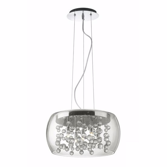 Picture of IDEAL LUX AUDI 80 PENDANT LAMP CRYSTALS SP5 5 LIGHTS