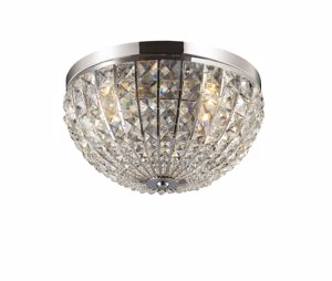 Picture of IDEAL LUX CALYPSO CEILING LAMP CRYSTALS AP4 4 LIGHTS