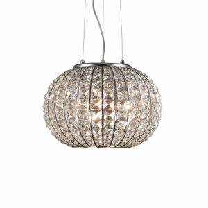 Picture of IDEAL LUX CALYPSO SUSPENSION CRYSTALS SP3 3 LIGHTS