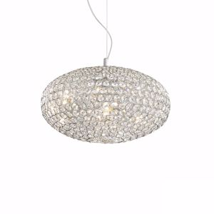 Picture of IDEAL LUX ORION PENDANT LAMP CRYSTALS 50CM 8 LIGHTS