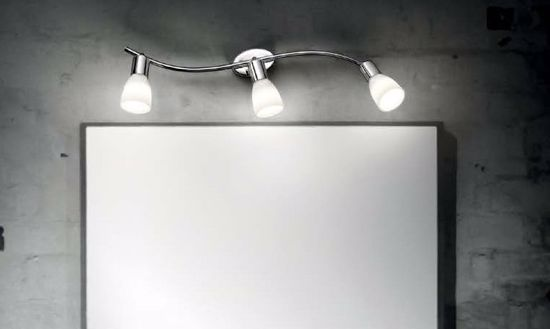 Picture of IDEAL LUX SNAKE AP3 WALL LAMP 3 WHITE GLASS DIFFUSERS