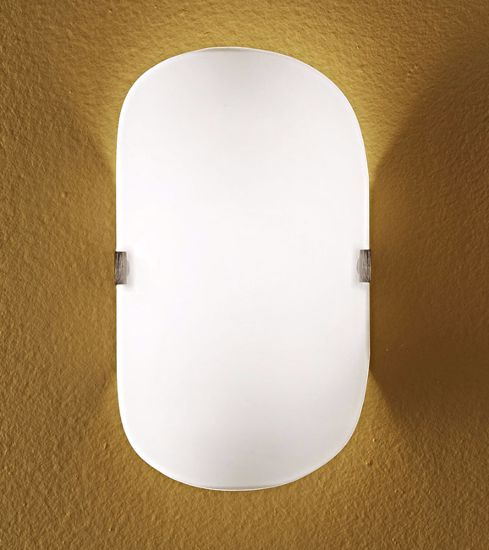 Picture of WHITE GLASS WALL LIGHT 16X27CM LINEA LIGHT LINER