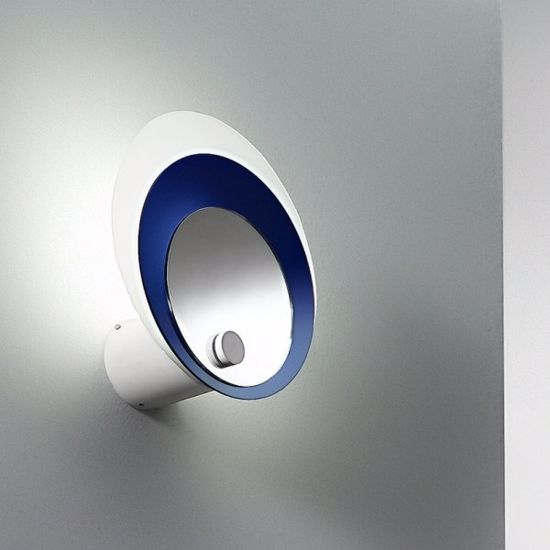 Picture of LINEA LIGHT HULA HOOP GLASS WALL LAMP BLUE