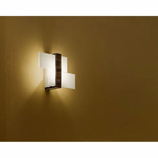 Picture of LINEA LIGHT TRIAD MODERN WALL LAMP 35X22 WALNUT