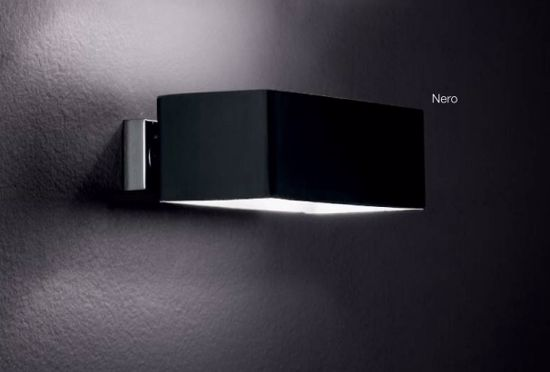 Picture of IDEAL LUX BOX AP2 RECTANGULAR BLACK WALL LAMP