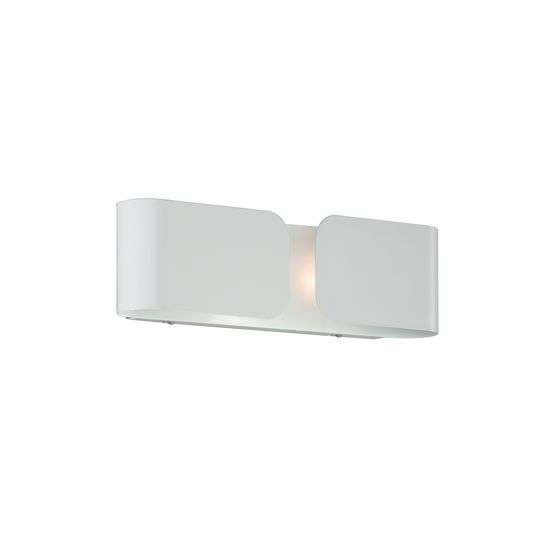 Picture of IDEAL LUX CLIP AP2 SMALL WALL LAMP IN WHITE FINISHED METAL