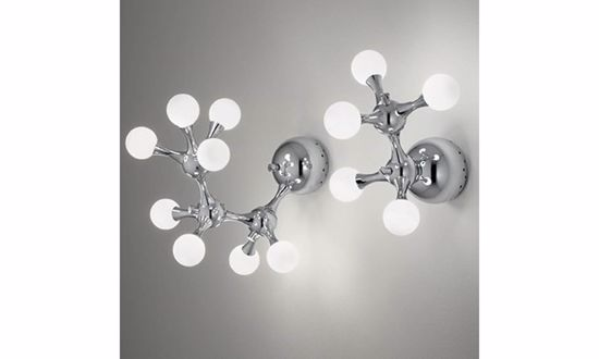Picture of IDEAL LUX NODI WALL LAMP AP5 5 LIGHTS CHROME METAL AND GLASS