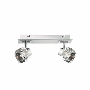 Picture of IDEAL LUX NOSTALGIA AP2 WALL LAMP 2 LIGHTS BASE IN WHITE GLASS