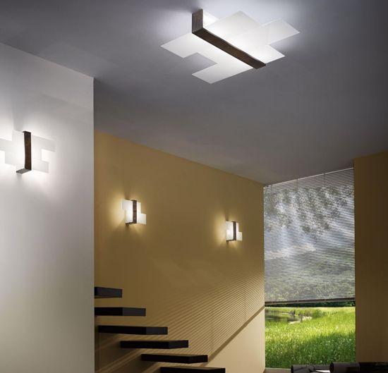 Picture of LINEA LIGHT TRIAD MODERN CEILING LAMP 88X71 WALNUT