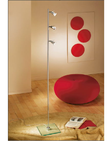 Picture of LINEA LIGHT SPOTTY FLOOR LAMP WITH 3 SPOTLIGHTS