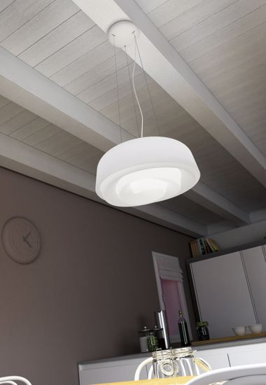 Picture of LINEA LIGHT ROSE SPIRAL PENDANT LAMP WHITE Ø75CM