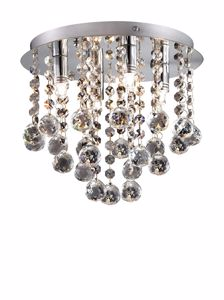 Picture of IDEAL LUX BIJOUX CEILING LAMP CRYSTALS PL3 3 LIGHTS