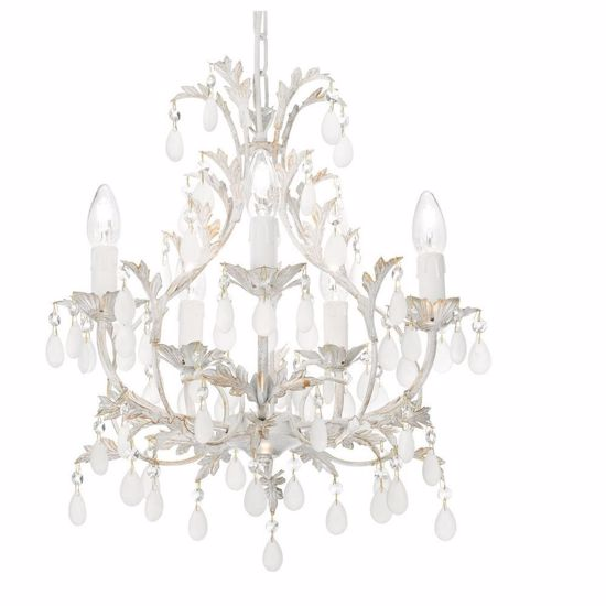 Picture of IDEALLUX CASCINA SP5 WHITE CHANDELIER