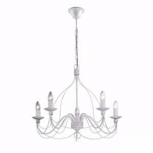 Picture of IDEAL LUX CORTE SP5 HANDCRAFTED PENDANT LAMP ANTIQUE WHITE