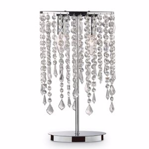 Picture of IDEAL LUX RAIN TL2 BEDSIDE LAMP WITH CRYSTALS