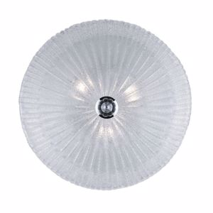 Picture of IDEAL LUX SHELL PL4 ROUND CEILING LAMP IN GLASS WITH GRANULES