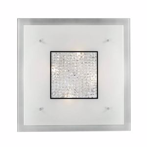 Picture of IDEAL LUX STENO PL3 SQUARE CEILING LAMP 42CM GLASS AND CRYSTALS