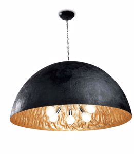 Picture of FARO MAGMA SUSPENDED DOME Ø120CM BLACK AND GOLD