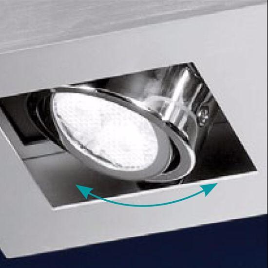 Picture of CEILING LED  LAMP ALUMINIUM COLOR 2-LIGHT