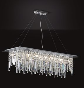 Picture of ELEGANT RECTANGULAR CRYSTAL CHANDELIER FOR LIVING ROOM AFFRALUX FRANGIA