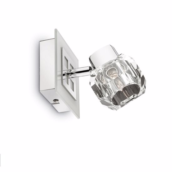 Picture of IDEAL LUX NOSTALGIA AP1 WALL LAMP 1 LIGHT BASE IN WHITE GLASS