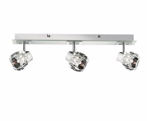Picture of IDEAL LUX NOSTALGIA AP3 WALL LAMP 3 LIGHTS BASE IN WHITE GLASS