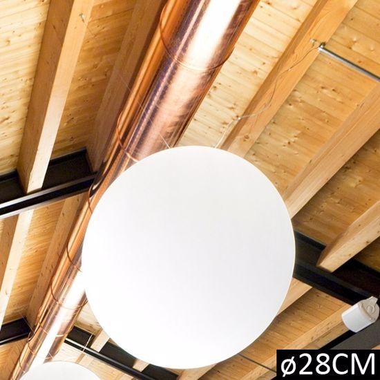 Picture of LINEA LIGHT OH! PENDANT SUSPENSION WHITE SPHERE Ø28CM H265
