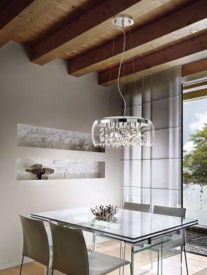 Picture of IDEAL LUX AUDI 80 PENDANT LAMP PENDANTS SP8 8 LIGHTS