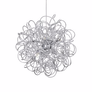 Picture of IDEALLUX MODERN SUSPENSION SPHERE Ø62CM WOVEN METAL WIRE 12 LIGHTS