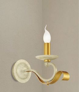 Picture of LAM EXPORT CLASSIC WALL LAMP IN IVORY AND GOLD METAL