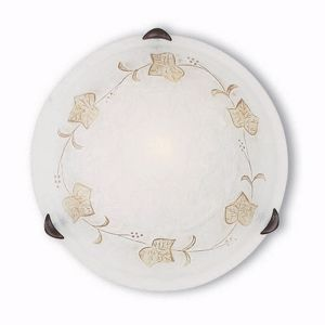 Picture of IDEAL LUX FOGLIA PL1 D30 HAND DECORATED CEILING LAMP