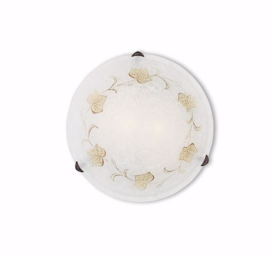 Picture of IDEAL LUX FOGLIA PL2 D40 HAND DECORATED CEILING LAMP