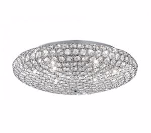 Picture of IDEAL LUX KING CEILING LAMP WITH CRYSTALS PL7 7LIGHTS CHROME