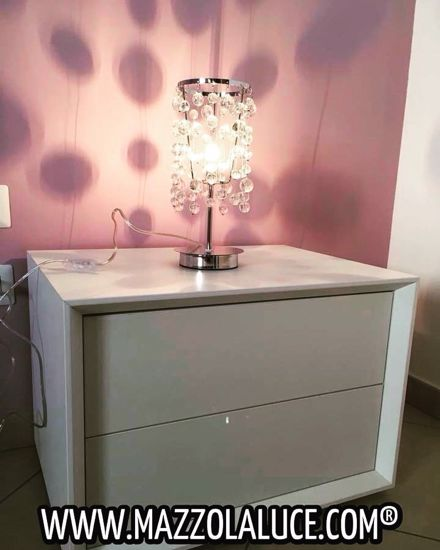 Picture of TABLE LAMP WITH GLASS PENDANTS