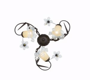 Picture of IDEAL LUX TIROL PL3 CEILING LAMP 3 ARMS HAND DECORATED